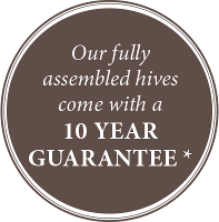 Ten Year Guarantee on all Hives