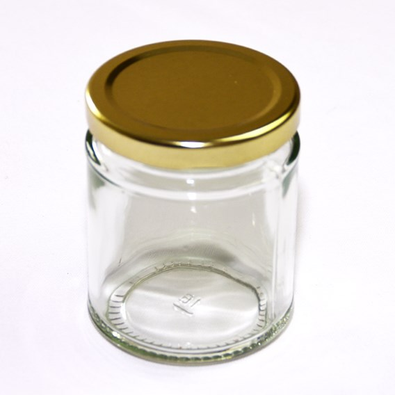 72 ROUND Jars with Lids 227g/ half lb