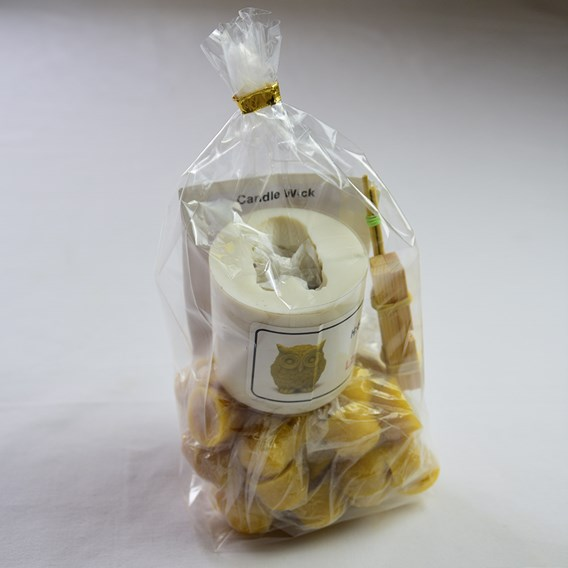 Owl Candle Mould kit with Beeswax  Promotion