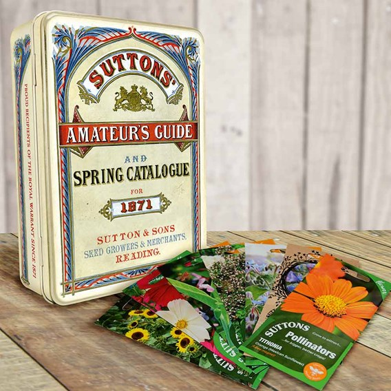 Seed tin with 7 packs of seeds Promotion