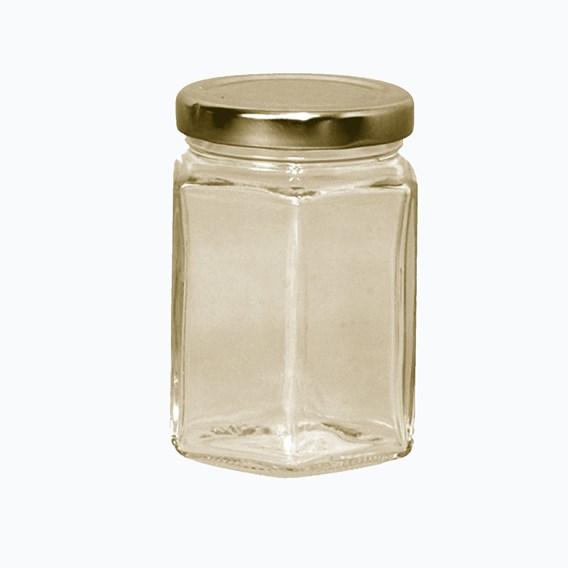 72 Hexagonal Jars With Lids 227G