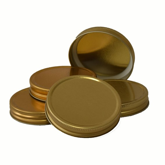 72 Metal Gold Screw Lids 70mm