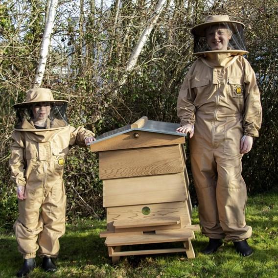 Children's Beekeepers Suit with Round Hood BEIGE XXS
