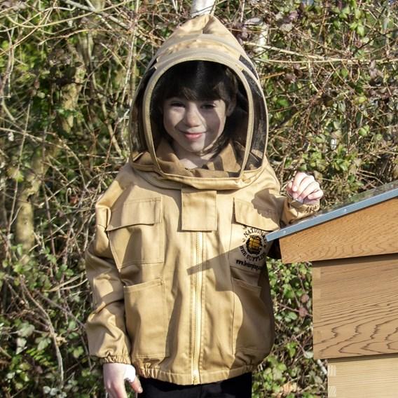 Children's Jacket with Fencing Hood Beige XXS