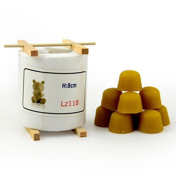 Teddy Candle Mould kit with beeswax blocks - X-Mas promotion