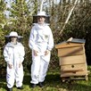 Children's Beekeepers Suit with Round Hood WHITE XXXS
