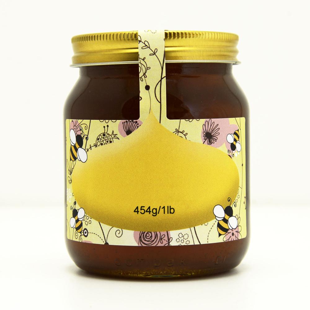 100 personalised jar and tamper labels pink floral national bee